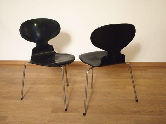 Ant Chairs von Arne Jacobsen für Fritz Hansen, 1950er, 6er Set