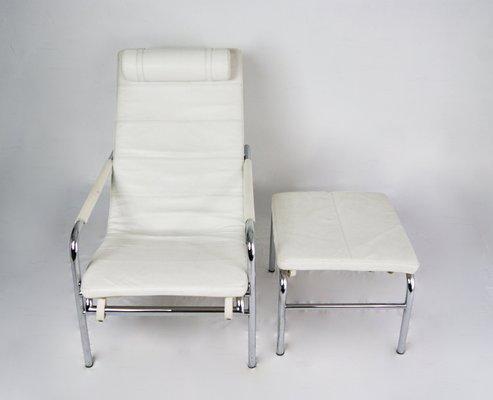 Genni Reclining Lounge Chair Ottoman By Gabriele Mucchi For Zanotta 1935