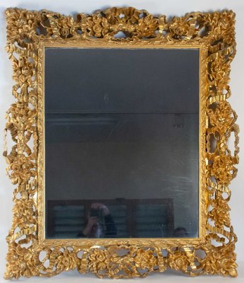 36714d15ea65 19th Century Napoleon III Carved and Gilded Wood Mirror for sale at ...