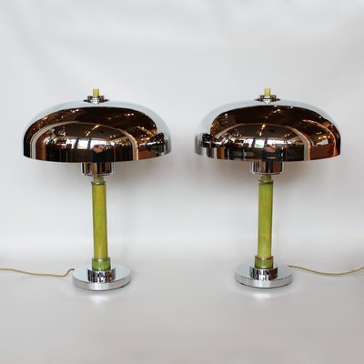 Art Deco Dome Table Lamps 1930s Set Of 2