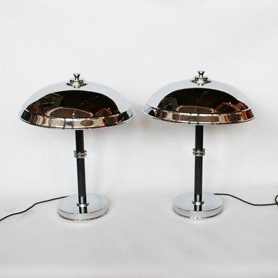 Art Deco Lampen mit kuppelförmigem Schirm, 2er Set