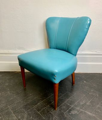 Swell Italienischer Vintage Cocktail Chair Aus Blauem Vinyl Download Free Architecture Designs Scobabritishbridgeorg