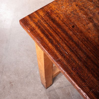 Hervorragend Hoher Arbeits- oder Esstisch aus Buche & Iroko-Holz, 1960er bei YJ48