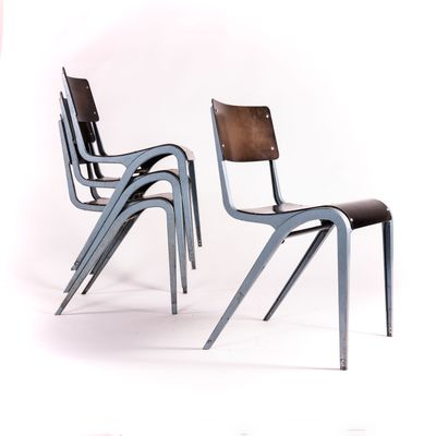 Excellent Industrial Dining Chairs By James Leonard For Esa 1960S Set Of 6 Alphanode Cool Chair Designs And Ideas Alphanodeonline