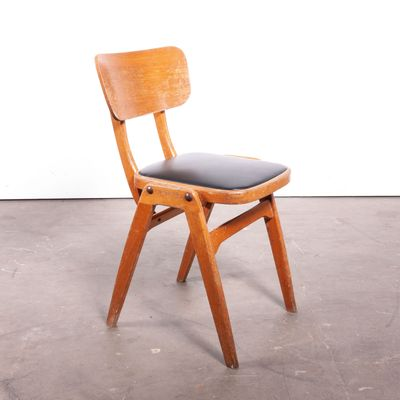 Café Dining Chairs With Black Seats From Centa, 1960s, Set Of 8 1