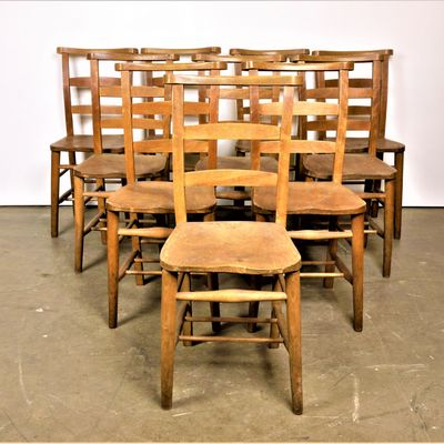 Elm Church Chairs 1930s Set Of 8 476 00