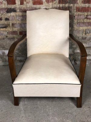 Vintage Fauteuil Skai.Vintage Low Skai Armchair For Sale At Pamono