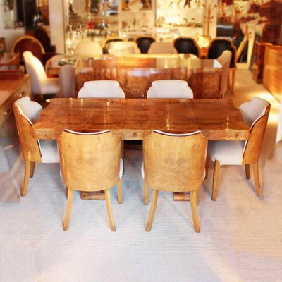 Art Deco Dining Set By Harry And Lou Epstein 1930s For Sale At Pamono
