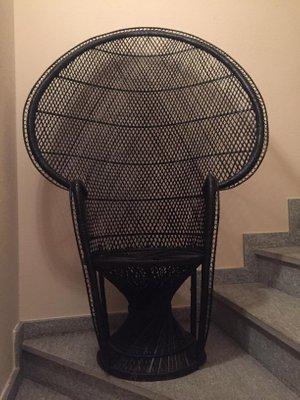 Schwarzer italienischer Peacock Stuhl, 1960er