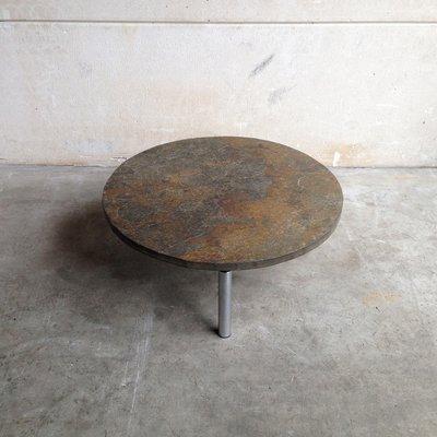 Table Basse Brutaliste en Ardoise, 1960s en vente sur Pamono