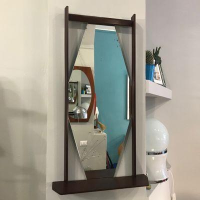 Specchio con mensola, Italia, 1963 in vendita su Pamono