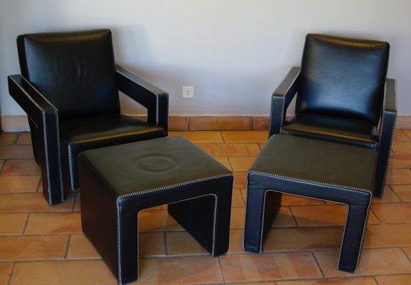 Poltrona reclinabile relax ecopelle con poggiapiedi sistema