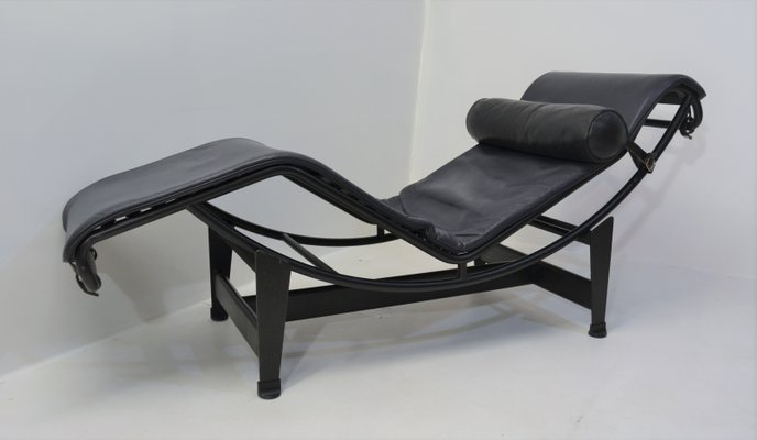 Vintage LC4 Chaiselongue Von Le Corbusier Pierre Jeanneret Charlotte Perriand Fur Cassina 1