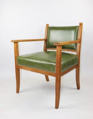Poltrona Pelle Verde.Poltrona Vintage In Pelle Verde Anni 60