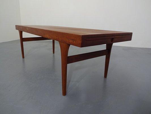 Coffee Table Extendable.Extendable Teak Coffee Table By Johannes Andersen For Silkeborg Mobelfabrik 1960s