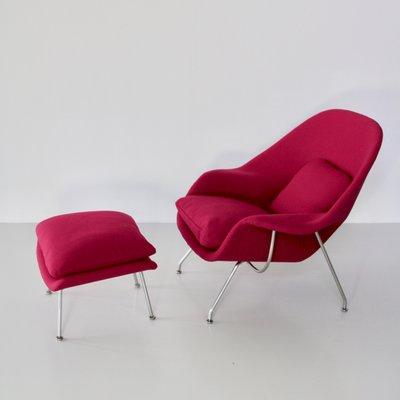 Womb Chair Mit Fusshocker Von Eero Saarinen Fur Knoll 1959 1