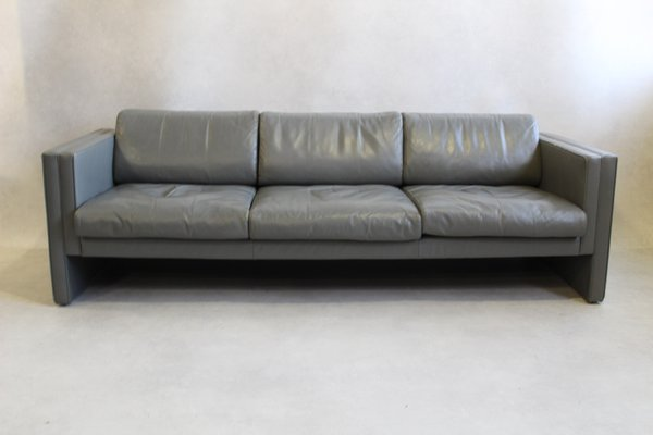 Grey Leather Sofa by Jürgen Lange for Walter Knoll, 1980s for sale ...