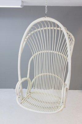 Vintage Dutch Rattan Hanging Chair 1964 1