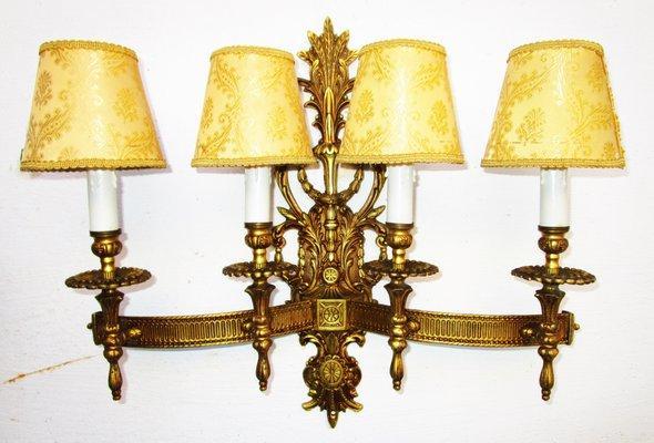 Applique grande vintage in stile luigi xv in bronzo in vendita su