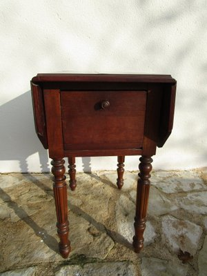 French Drop Leaf Side Table 1880s