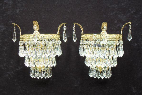 Applique in cristallo italia anni set di in vendita su pamono