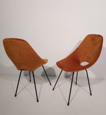 Stuhl Aus Samt Stahlrohr Von Vittorio Nobili Fur Fratelli Tagliabue 1950er