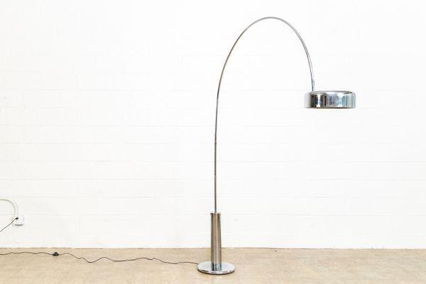 Mid Century Chrome Arc Floor Lamp For Sale At Pamono