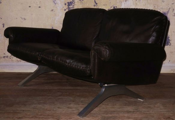 Model DS 31 Dark Brown Leather Sofa from de Sede, 1970s