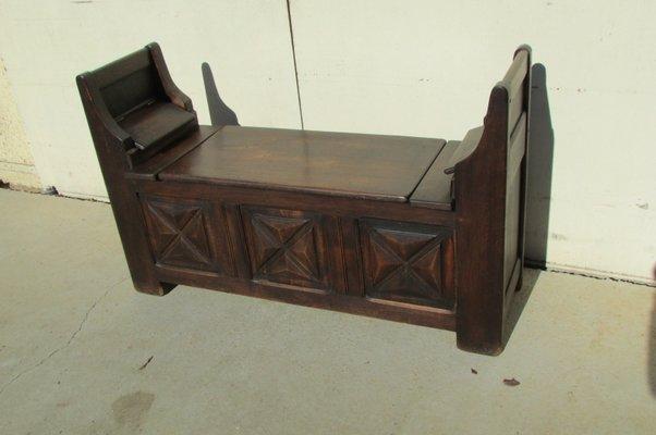 taille 40 800f6 47e80 Banc avec Coffre Rustique Vintage