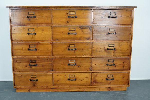 Surprising Large German Pine Apothecary Cabinet 1950S Interior Design Ideas Clesiryabchikinfo