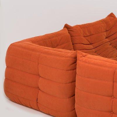 Modular 3-Piece Orange Sofa by Michel Ducaroy for Ligne Roset for ...