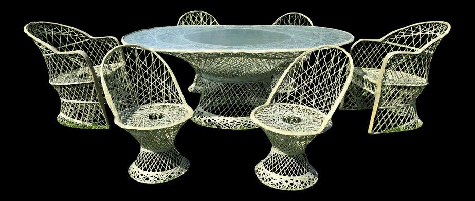 Vintage Spun Fibergl Dining Table