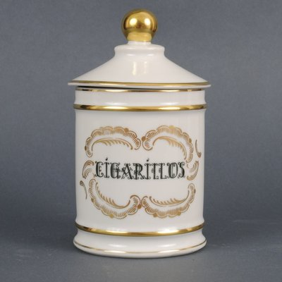 Porcelain Cigarillos Jar from Jacob Hertel, 1960s for sale at Pamono
