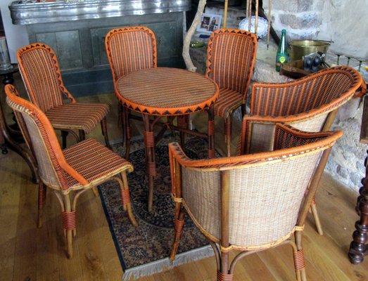 Set In Vimini Da Giardino.Set Da Giardino Vintage In Vimini In Vendita Su Pamono
