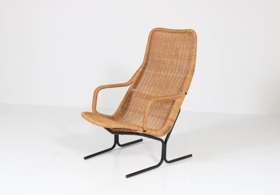 Pleasant Mid Century Modern 514 Wicker Lounge Chair By Dirk Van Sliedrecht For Rohe 1961 Dailytribune Chair Design For Home Dailytribuneorg