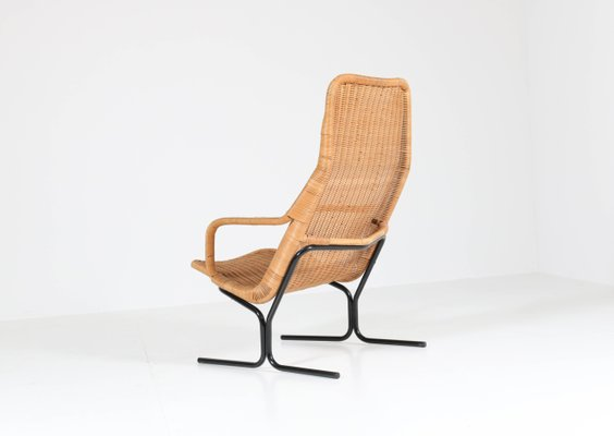 Peachy Mid Century Modern 514 Wicker Lounge Chair By Dirk Van Sliedrecht For Rohe 1961 Dailytribune Chair Design For Home Dailytribuneorg
