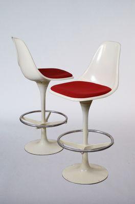 Chaises De Bar Pivotantes Par Maurice Burke Pour Arkana 1965 Set 2 1