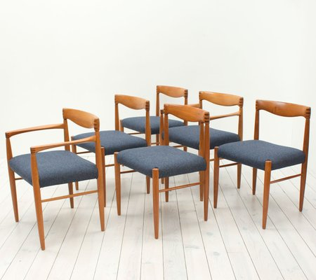 785f52e76c1d Danish Teak Dining Chairs by H. W. Klein for Bramin