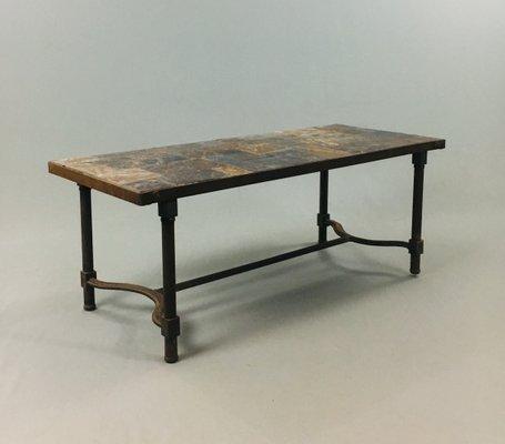 Steel Slate Coffee Table 1970s