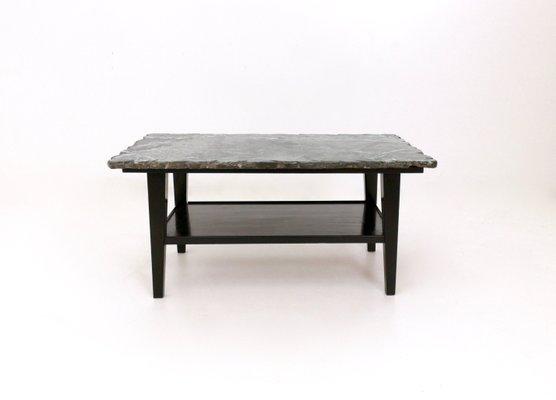 Mid Century Ebonized Wood Coffee Table