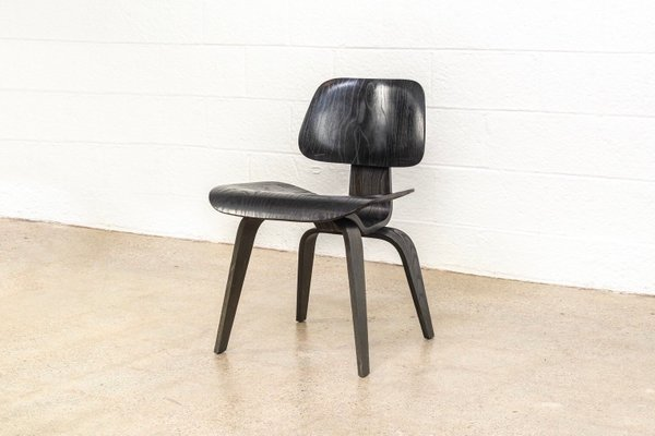 Surprising Mid Century Black Dcw Dining Chair By Charles Ray Eames For Herman Miller 1950S Pabps2019 Chair Design Images Pabps2019Com