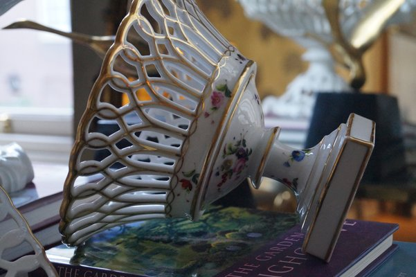 Vintage Hand Painted Basket