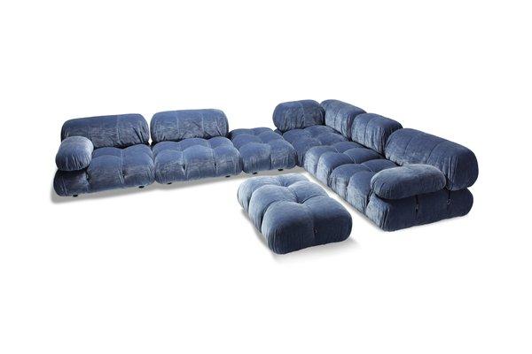 Blue Velvet Sectional Camaleonda Sofa By Mario Bellini For B B Italia 1970s