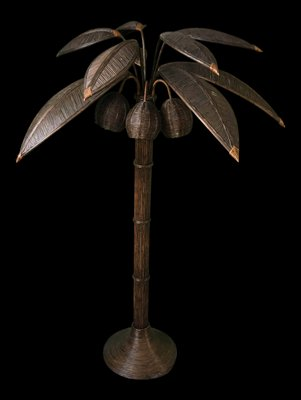 53105a8a5907a Rattan Palm Tree Floor Lamp by Mario Lopez Torres