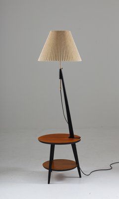 Charmant Mid Century Scandinavian Floor Lamp With Table From ANF Nybro 1