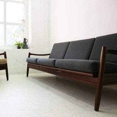 Ausziehbares Mid Century Sofa 1960er