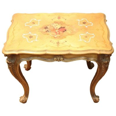 Vintage Wood Inlaid Coffee Or Side Table 1950s For Sale At Pamono
