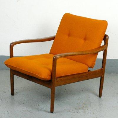 German Teak Antimott Easy Chair From Knoll 1960s 1
