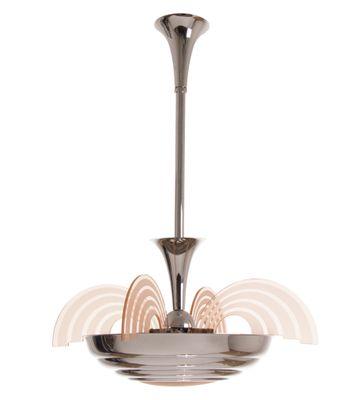 Französische Art Deco Deckenlampe, 1930er bei Pamono kaufen