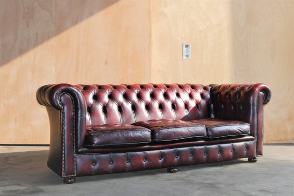 Vintage Chesterfield Sofa & Club Chair, 1960s for sale at Pamono